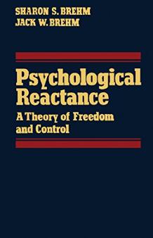 書籍「Psychological Reactance」の画像