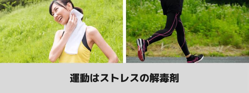 運動はストレスへの解毒剤という注釈
