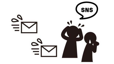 メール/Lineの頻度が高いことの図解